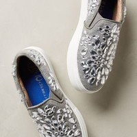 Jeffrey Campbell Sarlo Jeweled Sneakers Grey