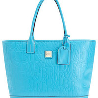 Dooney & Bourke Handbag, DB Embossed Retro Medium Russel Tote - All Handbags - Handbags & Accessories - Macy's