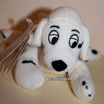 Licensed cool NEW Disney Store 101 Dalmatians Polka Dot Sound Penny Dog MINI Bean Bag plush