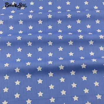 Booksew 2017  Star Design Material Bed Sheet Quilting Patchwork Bedding Clothing Home Textile Blue Cotton Fabric Twill Quarter