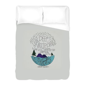 Einstein Nature Duvet Cover