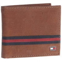 Tommy Hilfiger Saddle Tan Leather Double Billfold Wallet