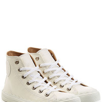 Chloé - Leather Sneakers with Scalloped Trim