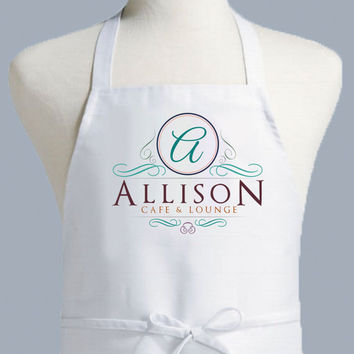 Monogram Apron, Personalized Apron, Women's Apron, Men's Apron, Gifts for Him, Full Size Apron with Monogram