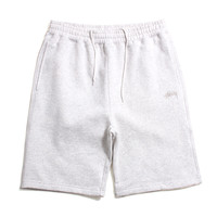 Stock Fleece Shorts Heather White