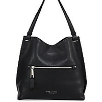 Marc Jacobs - Leather Snap Top Handbag - Saks Fifth Avenue Mobile