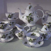 15 Piece Lily of the Valley Porcelain Tea Set Plus 30 Additional Patterns