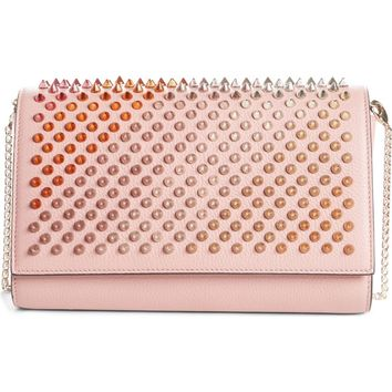Christian Louboutin Paloma Spiked Leather Clutch | Nordstrom