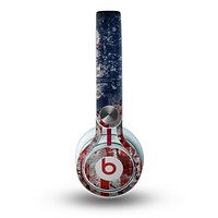 The Grungy American Flag Skin for the Beats by Dre Mixr Headphones