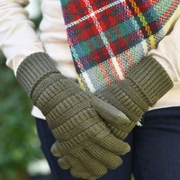 Magic Touch Gloves in Olive | Monday Dress Boutique