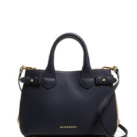Burberry Satchel - House Check Pebble Grain Small Banner