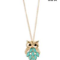 Aeropostale  Owl Long-Strand Necklace