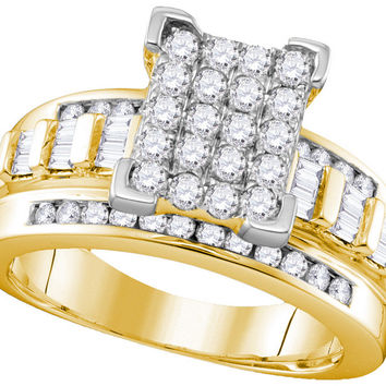 10k Yellow Gold Diamond Cindy's Dream Cinderella Bridal Wedding Engagement Ring 2 Cttw Size 8 111679