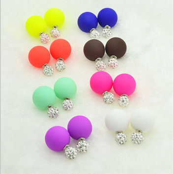 Push-back Trendy As Picture Zinc Alloy Pearl Stud Earrings For Women Hcf-e112