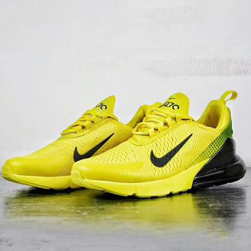 NIKE AIR MAX 270 World Cup Half Palms Running Shoes F-A50-XYZ yellow