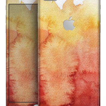 Redish Blotted WaterColor Texture - Skin-kit for the iPhone 8 or 8 Plus