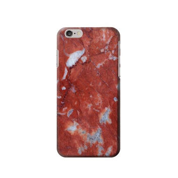 P2798 Red Marble Stone Texture Printed Phone Case For IPHONE 6S