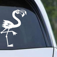 Flamingo Cartoon Die Cut Vinyl Decal Sticker