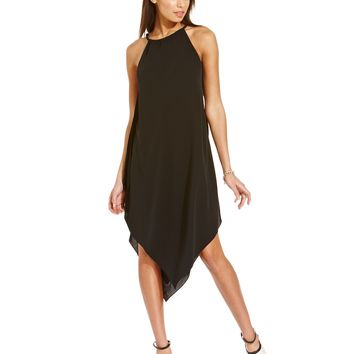 RACHEL Rachel Roy Halter-Neck Handkerchief-Hem Dress