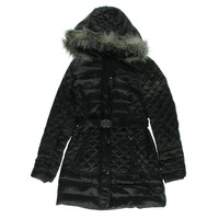 Guess Womens Quilted Long Sleeves Puffer Coat