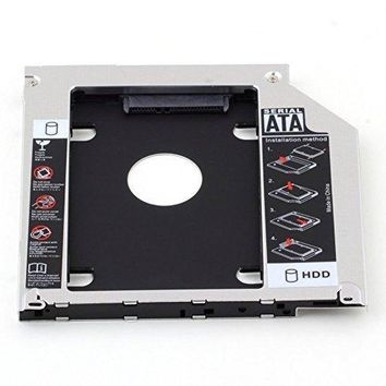 HIGHROCK Hard Drive Caddy Tray 9.5mm Universal SATA 2nd HDD HD SSD Enclosure Hard Drive Caddy Case Tray, for 9.5mm Laptop CD/DVD-ROM Optical Bay Drive Slot (for SSD and HDD)