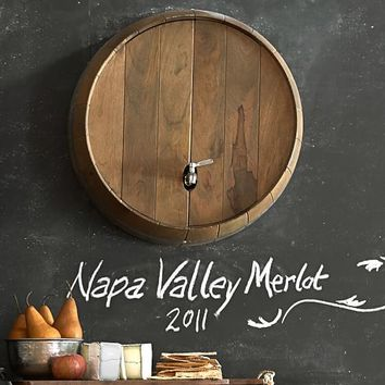 WINE BARREL WALL-MOUNTED DRINK DISPENSER