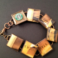 Espresso Starbucks coffee bracelet from a by lifeaccessories