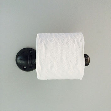 Industrial toilet paper holder, wall mount