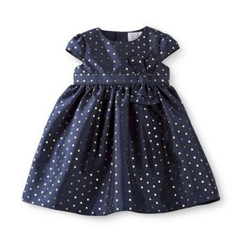 Just One You™Made by Carter's® Girls' Capsleeve Gold Dot Dress - Navy