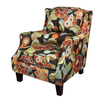 Porter Zoe Floral Woven Fabric Accent Chair
