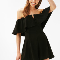 Knit off shoulder romper - Jumpsuits & Rompers - Bershka United States