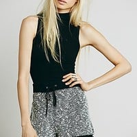 Free People Womens Marbled Knit Short