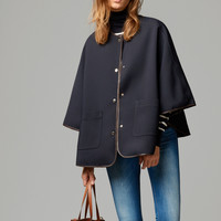 NAVY RAINCOAT CAPE - View all - Jackets - WOMEN - Italia/Italy