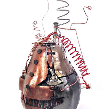 Lanky Steampunk Halloween Pumpkin