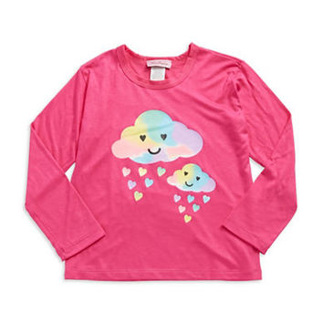 Miss Popular Girls 2-6x Happy Little Rainclouds Top