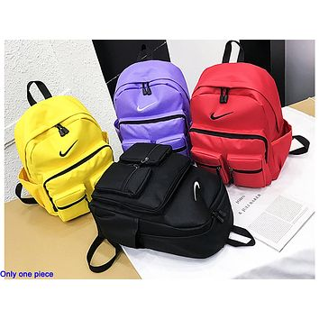 NIKE popular men's and women's casual backpacks fashion stitching large capacity shopping backpack