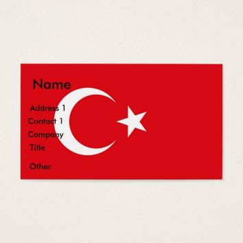 Business Card with Flag of Turkey
