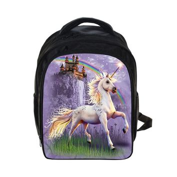 Fantastic Beasts Unicorn Kindergarten Backpack Animal Horse Children School Bags Boy Girls Cartoon School Backpack Kids Gift Bag