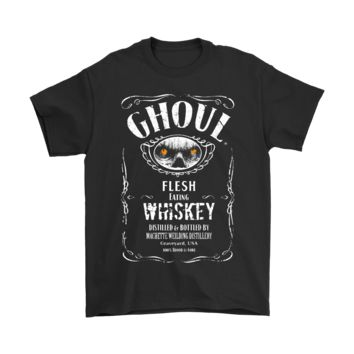 AUGUAU Flesh Eating Ghoul Whiskey Label Halloween Shirts