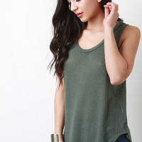 Loose Knit Sleeveless Top