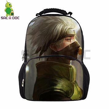 Anime Backpack School kawaii cute Naruto School Bag Women Men Laptop Backpack Naruto Sasuke Kakashi Backpack for Teenagers Students Large Capacity Book Bag AT_60_4