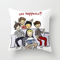 One Direction 'Vas Happenin' Cartoon Throw Pillow by xjen94 | Society6