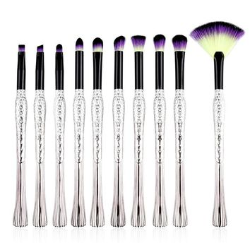 10 pcs Bird Tail Makeup Brush Set