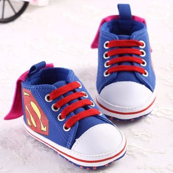 Batman Dark Knight gift Christmas 2018 New Superman Baby Shoes Fashion Batman Cartoon Toddler Infants Shoes Crib Babe aby Boys Shoes First Walkers Newborn Kids AT_71_6