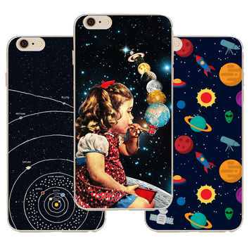 For Iphone 6 Case Airship Astronaut Animation Star Pattern Case Cover For Apple Iphone 6 6s Cases Soft Silicone Shell