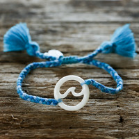 Big Wave Tassel Bracelet