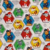 Paw Patrol Fabric Craft Fabric Dog Fabric Cartoon Fabric Kids Fabric Quilting Fabric Cotton Fabric Pillow Fabric Curtain Fabric