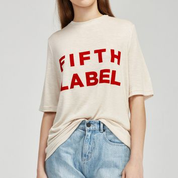 THE FIFTH DUET T-SHIRT biscuit marle