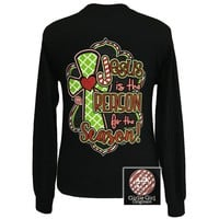 Jesus is the Reason for the Season #3-Black (Long Sleeve) [LS-JIR30200] - $20.99 : Girlie Girl™ Originals - Great T-Shirts for Girlie Girls!