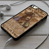 Wanted Jack Sparrow Pirates of the Caribbean iPhone 4/4s 5 5s 5c 6 6plus 7 Case